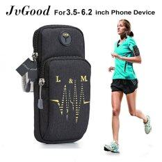 "Jvgood Sports Armband Water Resistant With Multifunctional Pockets Workout Running Armbag Arm Band Outdoor Pouch For 3.5~6.2 "" Smartphone Cell Phone By Jvgood."