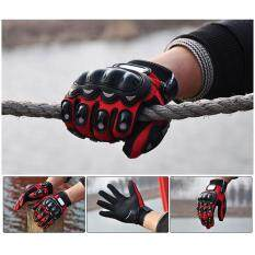 Kobwa 1 Pair Men Outdoor Sports Full Finger Leather Nylon Motorcycle Racing Motorbike Gloves By Kobwa Direct.