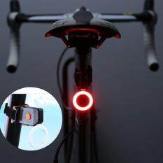 Kobwa Usb Rechargeable Led Bike Tail Light, 5 Light Modes Waterproof Bicycle Rear Light, Ultra Bright Red Led Taillight For Cycling Safety (circular Shape) By Kobwa Direct.
