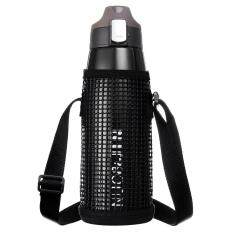 Large Capacity Vacuum Flask Sports Bottle Sports Pot With Net Bag - Black By Freebang.