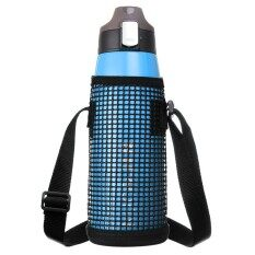 Large Capacity Vacuum Flask Sports Bottle Sports Pot With Net Bag - Blue By Freebang.