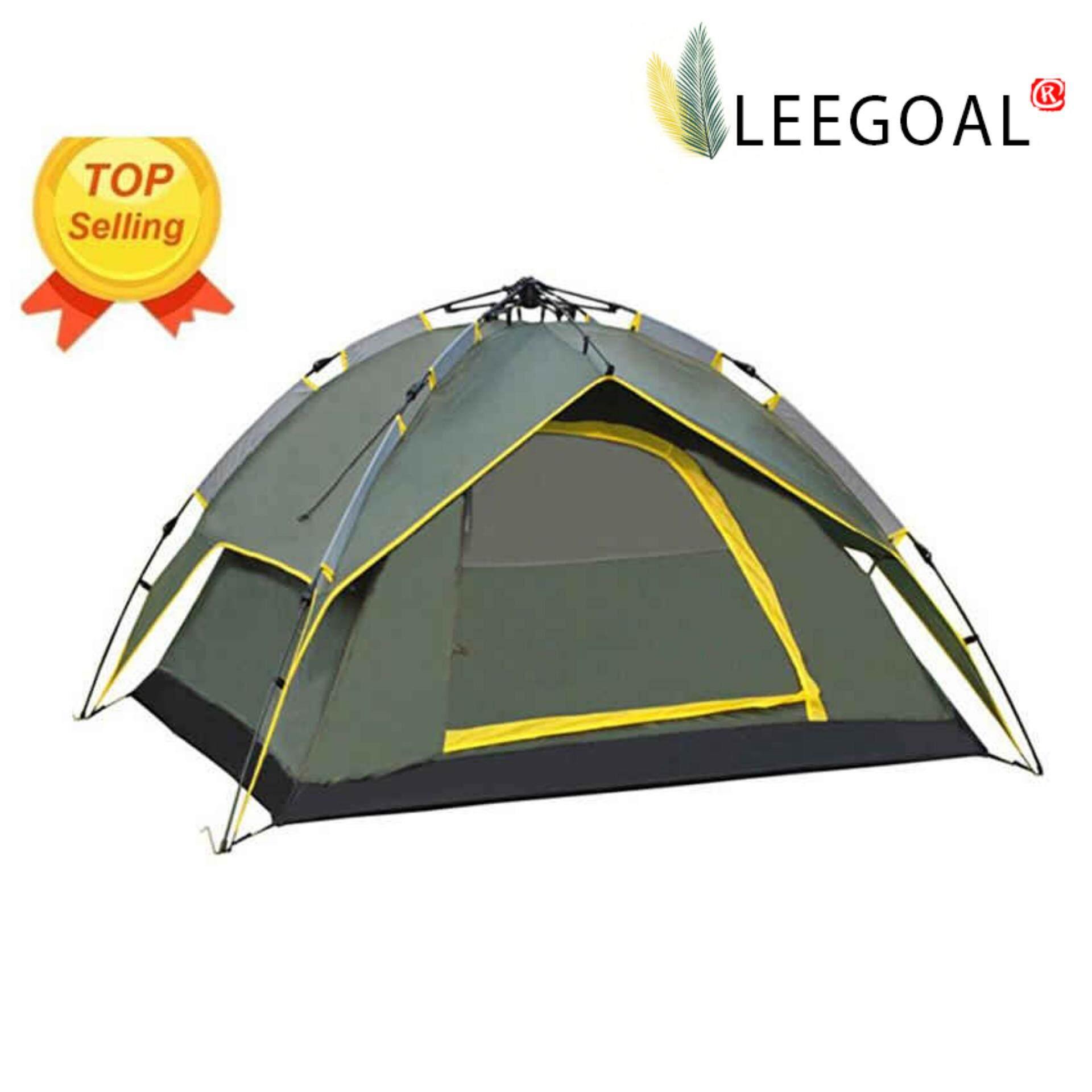 Tenda Camping Berkemah Dome Kapasitas 6 Orang 4 Kubah Tahan Air Otomatis Instan Pantai Untuk Festival Hiking Hijau