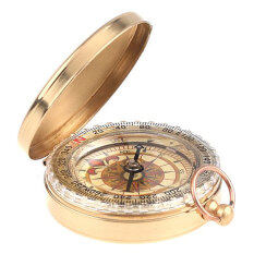 Leegoal Watch Style Antique Brass Pocket Compass Survival Tools For Camping Hiking Outdoor Sports(brassy) By Leegoal.