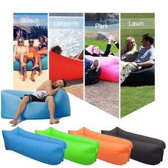LUOWAN Inflatable Lounger, แบบพกพาเตียงแอร์โซฟาสำหรับนอนโซฟาสำหรับเดินทาง, Camping, Beach, Park, Backyard, กันน้ำทนทาน (สีฟ้า)-