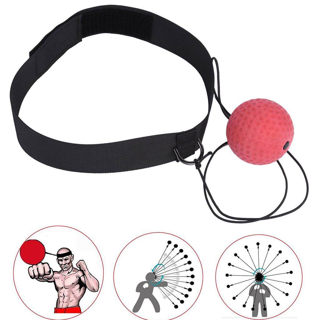 Best Offer Magideal Boxing Fight Ball Speedball With Head Band For Reflex Speed Training Punching Fitness Equipment Intl