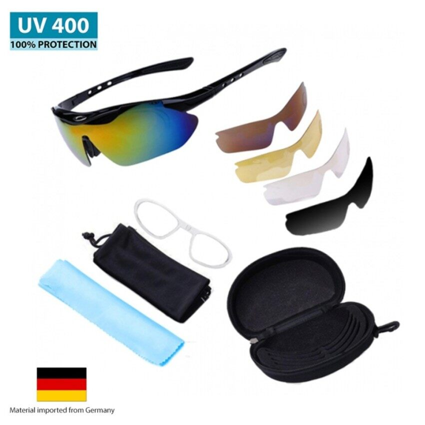 72b5a7fbb7 MAXGear SG89 UV400 Cycling Outdoor Sports Sunglasses with 5 Piece Set of  Lens