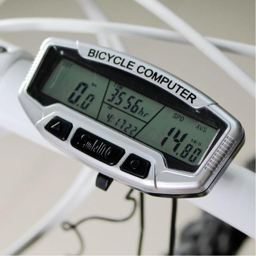 Huade Lcd Backlight จักรยานกันน้ำคอมพิวเตอร์วัดระยะทาง Speedometermultifunction อุปกรณ์รถจักรยานนาฬิกานาฬิกาจับเวลา Bicicletayc053-Sz - Intl.