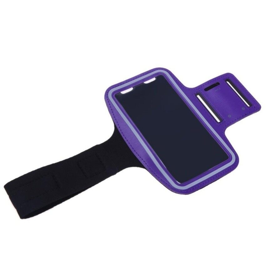 GFW Mcc Waterproof Outdoor Sport Running Armband Mobile Phone Case Arm Pouch Bag(Purple)
