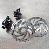 1 Pair Front Rear Disc Brake Mountain Bike Disc Rotor Brake Kit Mechanical