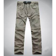 Os Detachable Quick Dry Hiking Pants Sports Trousers For Outdoor Camping Trekking Color:khaki [light Board Without Logo] Size:l By Outop Store.