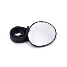 Mini Black 360° Rotaty Handlebar Glass Mirror Rearview For Road Bike Bicycle Black By Lofow Rain.