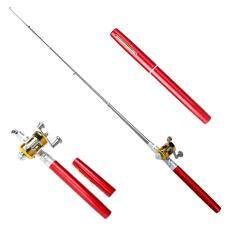 [cheerfulhigh][hot]mini Portable Pocket Fish Pen Aluminum Alloy Fishing Rod Pole Reel Combos (my) By Cheerfulhigh.