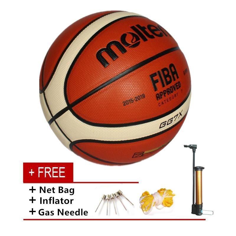 MT GG7X Indoor Outdoor PU Leather Basketball Official Size 7 Basketball Ball PU Match Training Equipment GG7X - intl
