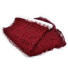 Moonar 6.1mX 0.76m Portable Standard Braided Badminton Net (Wine red)