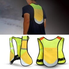 Multi-Function Night Sporting Reflective Cycling Running Vest Hiking Jacket (yellow) By Highfly.