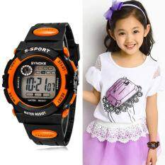 utifunction Waterproof Chid Boy Gir port Eectronic Writ Watch Orange Malaysia