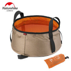 Naturehike 10l Ultralight Outdoor Nylon Folding Water Washbasin Portable Wash Bag By Freebang.