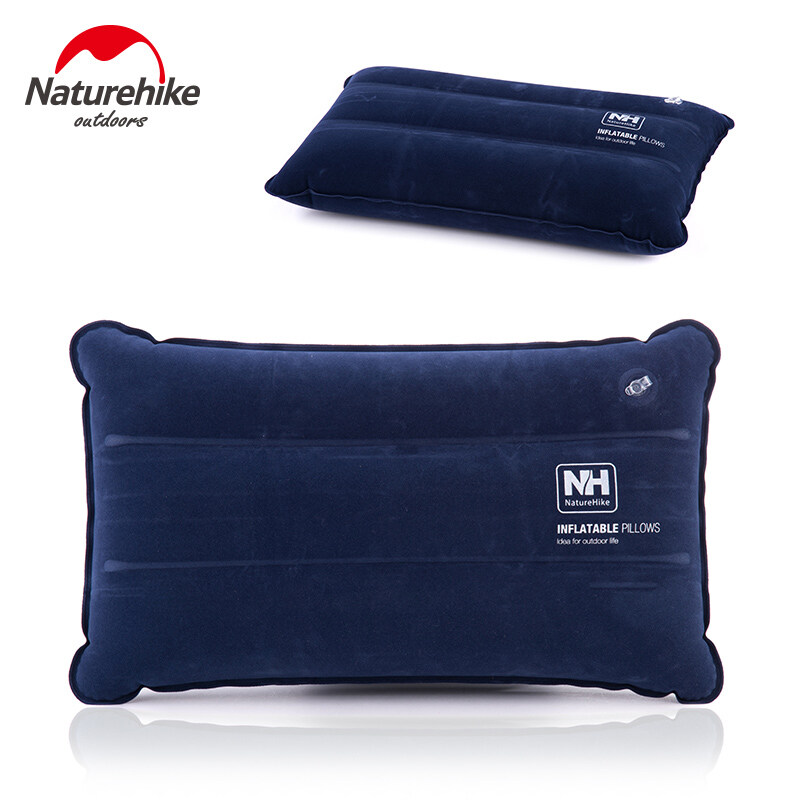 Naturehike Luar Camping Air Inflatable Bantal Lipat Perjalanan Bantal Air Cushion Suede + Pvc Air Mat Camping Equipment 85g - Intl By Topseller Mall.
