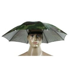 New Foldable Head Umbrella Hat Cap Golf Outdoor Sun Headwear Fishing Camping By Haron.