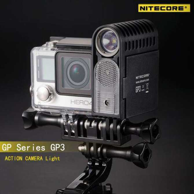 ... Nitecore GP3 XP-G2 360LM USB Rechargeable LED Action Camera Light Black  - intl ...