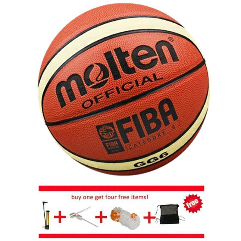 Official Basketball Balls Gg6 Size 6 Pu Material Basketball Ball Outdoor Indoor Training Ballon Free With Net Bag+ Pin And Inflator (brown) By Enjoy House.