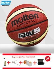 Official Molten Basketball Balls Gw5 Size 5 Pu Material Basketball Ball Outdoor Indoor Training Ballon Free With Net Bag+ Pin And Inflator By Pico Sports.