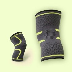 One Piece Men and Women Compression Joint Pain Relief Anti Slip Knee Brace Sleeve Workout Jogging Basketball Cycling - 42 x 47cm / Green