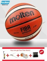 Original Molten Basketball Ball Gg7x Size 7 Pu Leather Material Basketball Ball Official Match Basketball Indoor Outdoor Basketball Training Equipment Free Net Bag+ Pin And Inflator By Ez2shop.