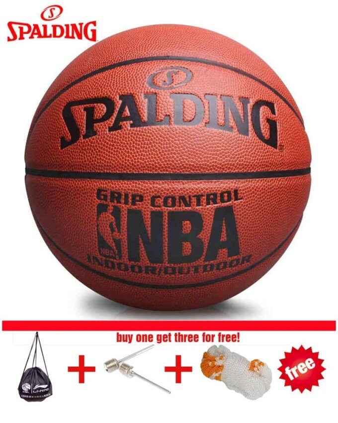 68866807c9c Original Spalding (74-604Y) NBA Endorsed Grip Control Indoor Outdoor  Competition Official