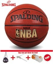 Original Spalding (74-606y) Nba Endorsed Grip Control Indoor/outdoor Competition Official Size 7 Basketball Pu Material Basketball With Net+ Bag+ Pin By Ez2shop.