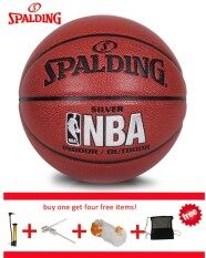 Original Spalding (74-608y) Nba Endorsed Grip Control Indoor/outdoor Competition Official Size 7 Basketball Pu Material Basketball With Net+ Bag+ Pin And Inflator By Pico Sports.