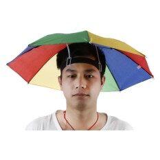 25cc65a7708 Outdoor Foldable Sun Umbrella Hat Golf Fish Camp Headwear Cap Head Hats  Shade