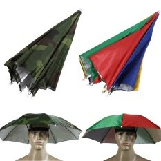 Outdoor Foldable Sun Umbrella Hat Golf Fish Camp Headwear Cap Head Hats Shade By Costel.