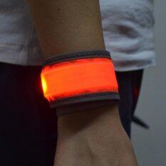 Outdoor Night Running Led Reflective Slap Bands Glow Bracelet (red) By Danlong Store.