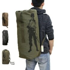 Outdoor Travel Luggage Army Bag Canvas Hiking Backpack Camping Tactical Rucksack Men Military Backpack Mochila (l) By Mubai Trading.