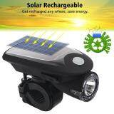 Bike LED Light Headlight Solar Energy Bicycle Front Light USB Rechargeable