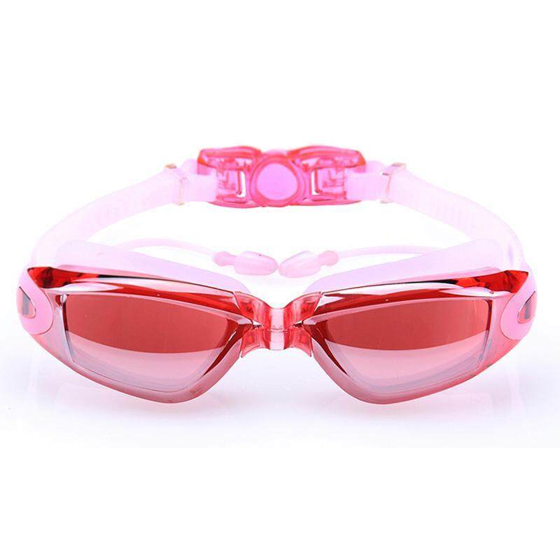 RM40.00Nearsight Swimming Goggles With Ear Plug Sportswearpc Lens Anti-Fog Coated Glasses(
