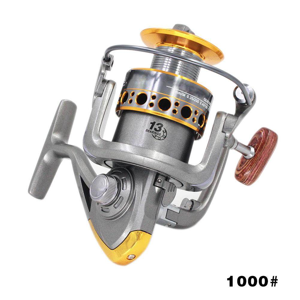 PAlight Portable Spinning Boat Fishing Reel Wheel Metal Handle 13BB Ball Bearing (size:1000