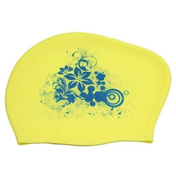 Peacoco Besar Silikon Berenang Tutup untuk Wanita Wanita Pria dan Dewasa, Tutup Renang untuk Rambut Panjang, rambut Tebal, Rambut Keriting, Rambut Gimbal, Telinga Bungkus Berenang Topi Menjaga Rambut Kering Kuning-Internasional