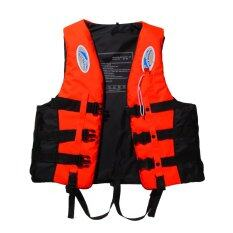 Polyester Adult Life Jacket Universal Swimming Boating(orange Xl) By Welcomehome.