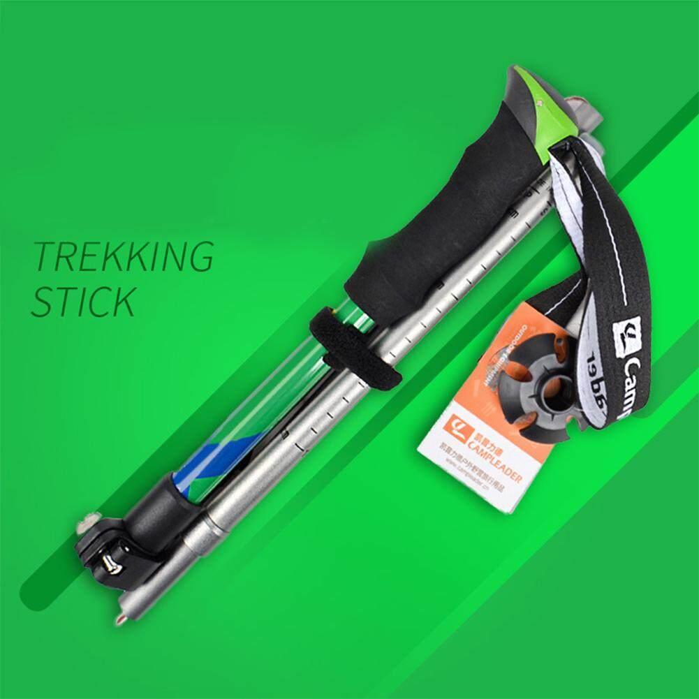 Retail Lucky G Portable Aluminium Alloy Anti Shock 5 Section Folding Trekking Walking Hiking Ultralight Sticks Poles Alpenstocks Lengh Folding Size 36Cm Intl