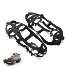 Portable Anti Slip Boot Grips Ice Cleats Spikes Snow Gripper Non Slip Crampons 260*120*3mm - Intl By Littlegroot.