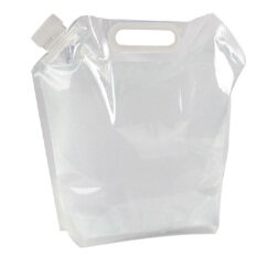 Portable Folding Clear Water Bag Camping Survival Kit Supply 5l By Welcomehome.