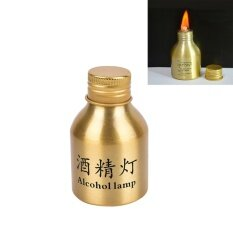 Portable Mini Home 50ml Alcohol Burner Lamp Aluminum Case Lab Equipment Heating Tool By Littlegroot.