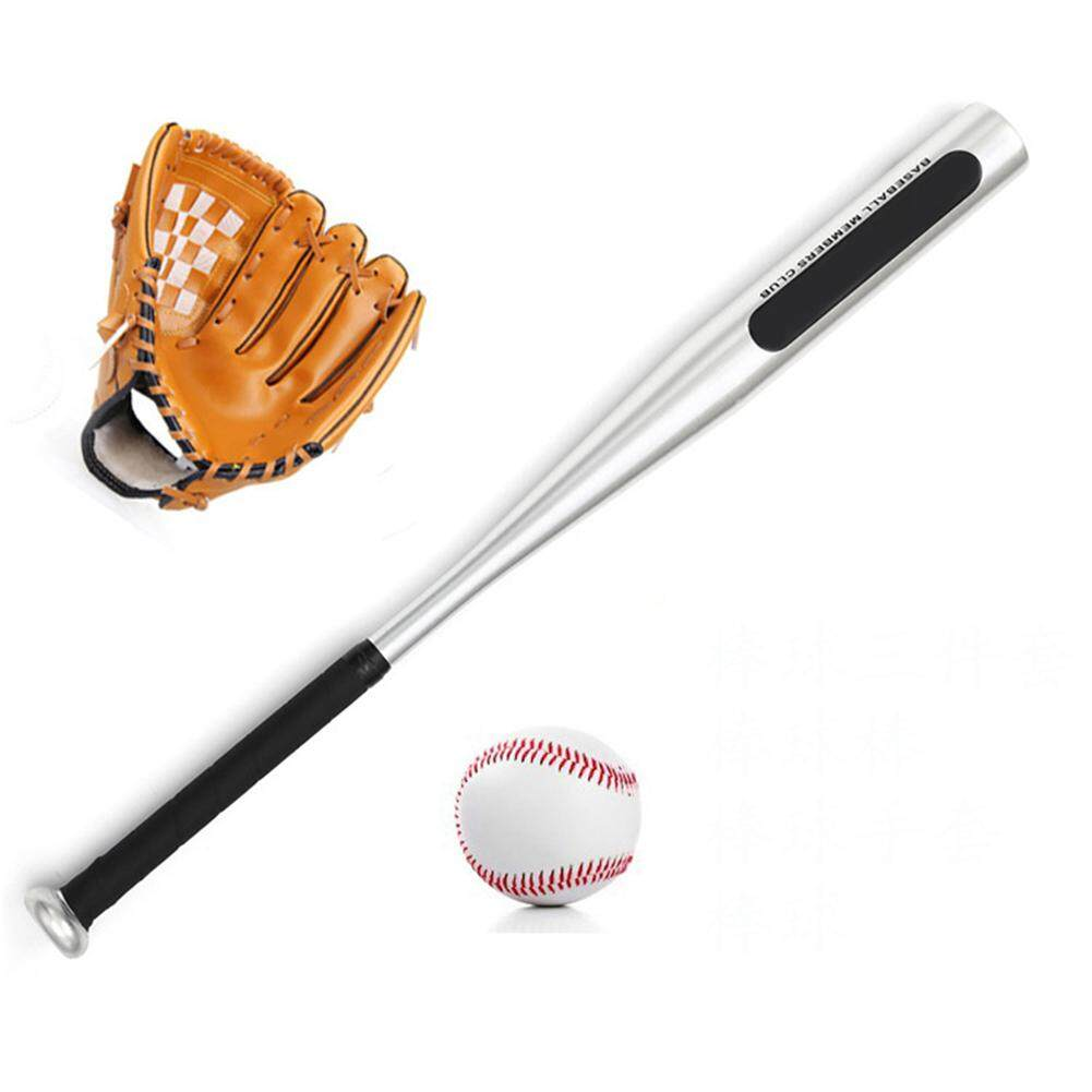 Hossen Portable Softball Baseball Three Piece Toys With Balls Bat Glove For Childern Kids Carrying Bag Included Specification Baseball Three Piece Set With Brown Gloves Intl On Singapore