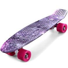 Printing Purple Starry Sky Pattern Skateboard Complete 22 Inch By Goodlife Shopping.