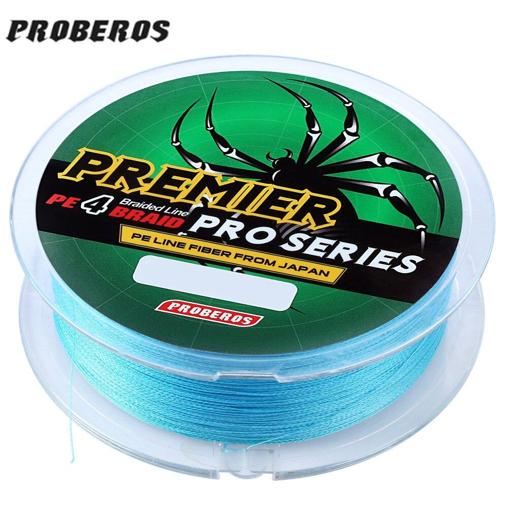 PROBEROS 100M PE 4 Strands Monofilament Braided Fishing Line Accessory 25LBS(Blue) (MY