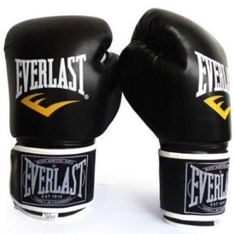 Găng Tay Everlast Găng Tay Boxing Chuyên Nghiệp Muay Thái Đào Tạo Maya Giấu Da Sparring Đấm Túi Mitts Kickboxing Găng Tay Chiến Đấu
