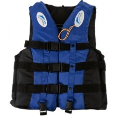Qimiao Whistle + Adult Lifejacket Swim Rowing Boat Sailing Rafting Life Vest L ,blue By Qimiao Store.