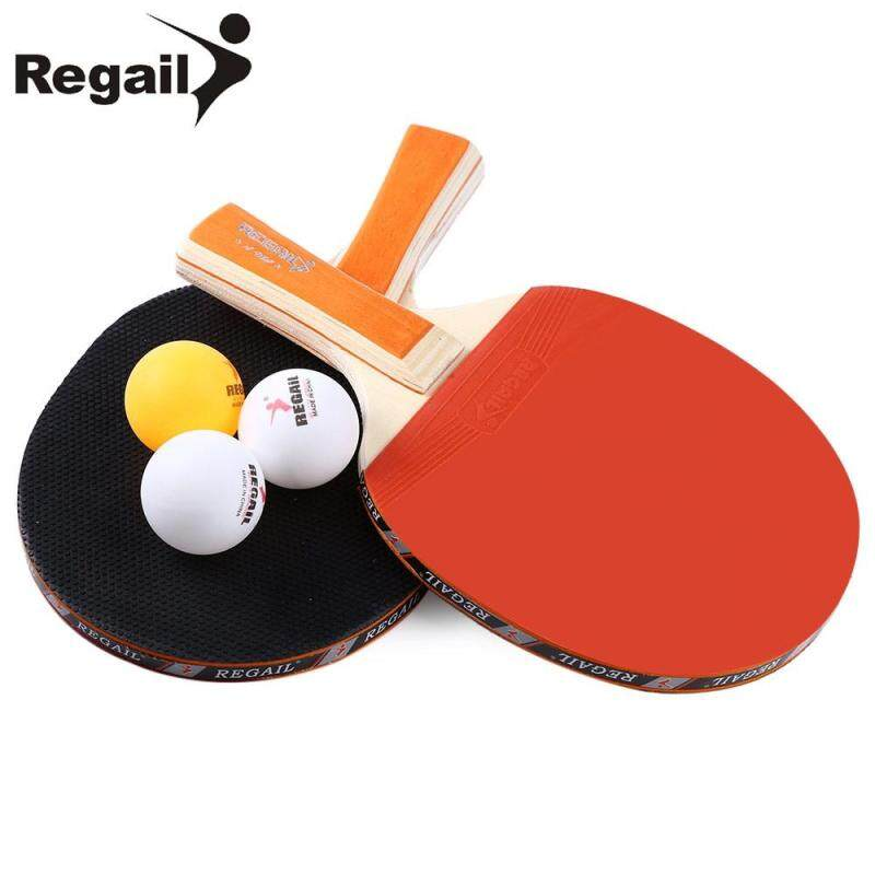 REGAIL A508 Table Tennis Ping Pong Racket Balls Long Two Orange Three Handle Bat Paddle